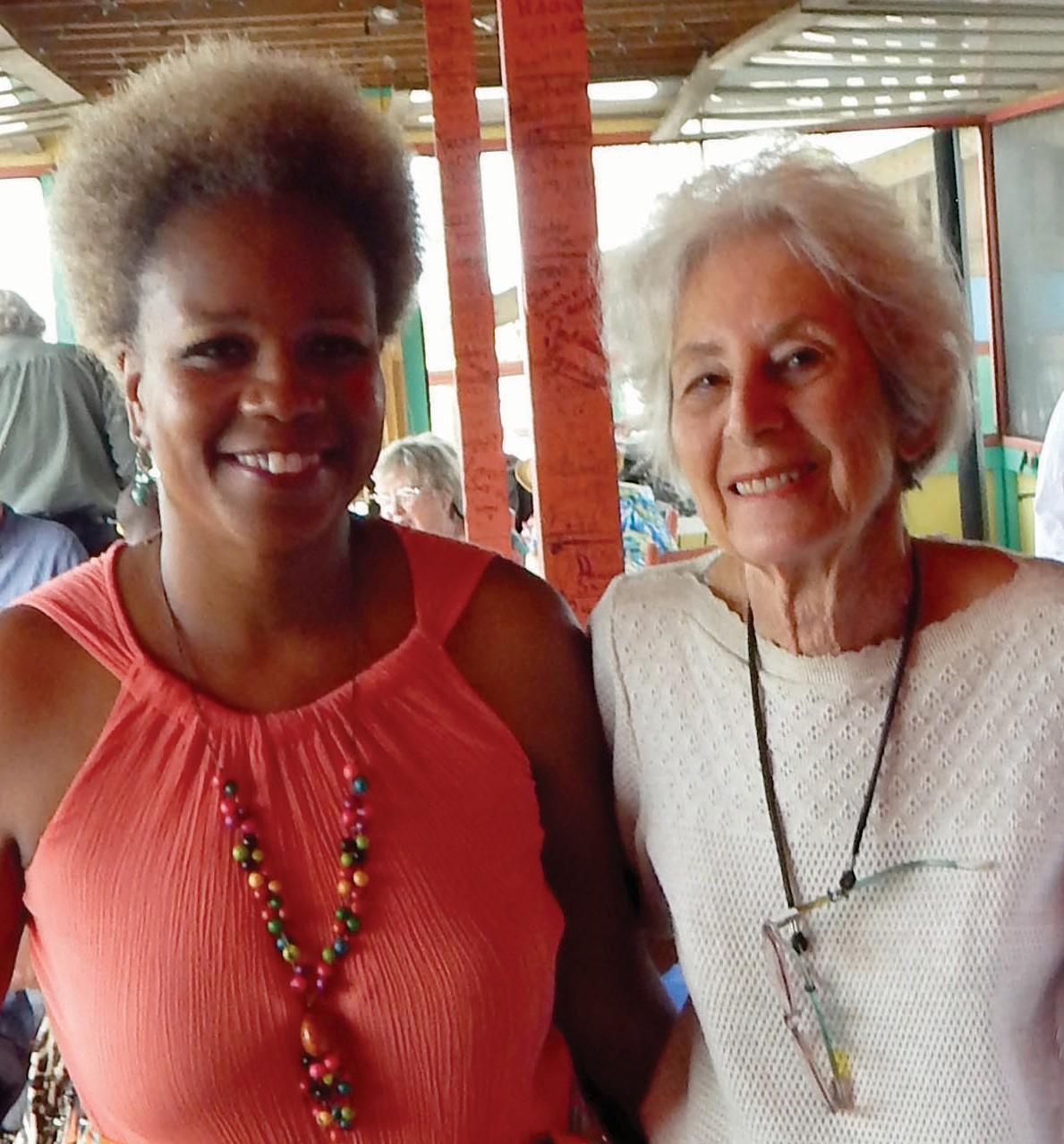 (L-R) Julia Pearce, TybeeMLK Coordinator and Esther Buchsbaum, Aaron Buchsbaum's widow.