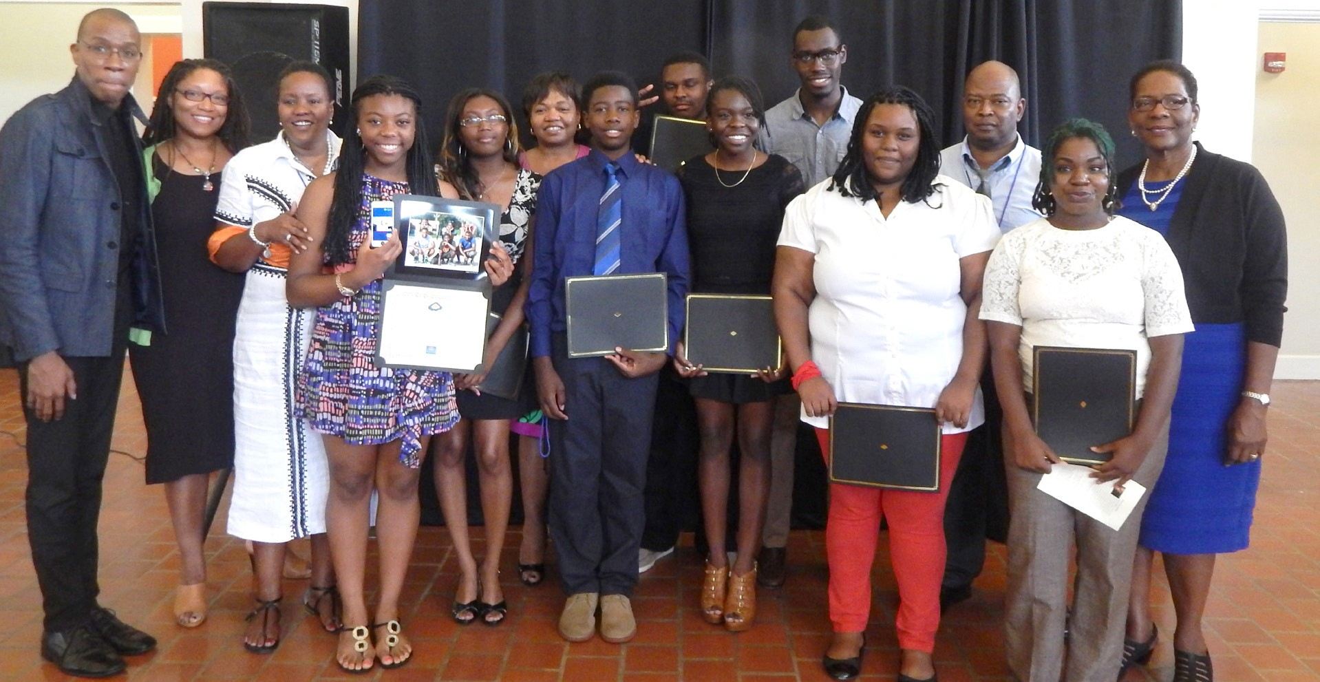 Photo: SSU Media High Professionals, Student Assistants; and participating students Guest Speaker, Patrick Riley far left and Dr. Wanda Lloyd, Chairperson, SSU Mass Communications Dept.