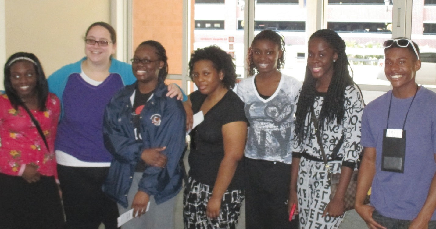 Dasnee Bailey (second from left) shown with Students from WFHS on Italy Trip