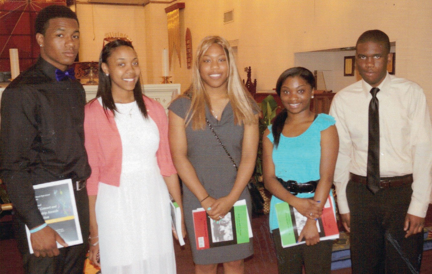 (Above) The 2014 A.E. Beach Class of 1962 Scholarship Recipients