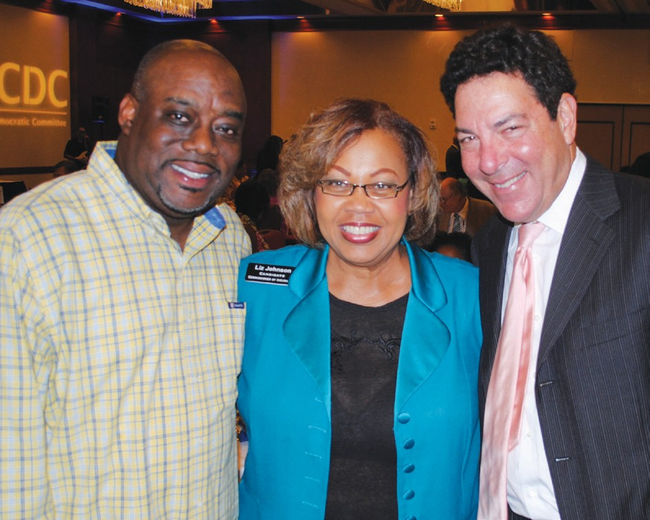 (l to r)Mayor Pro-Tem Van Johnson, Liz Johnson Candidate for State Insurance Commissioner and Scott Center.