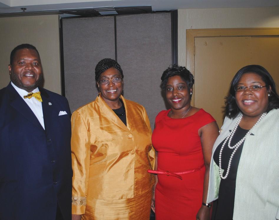 (l to r)Comissioner Yusef Shabazz, Alderman Estella Shabazz, Malinda Scott Hodge, and Monifa Johnson.