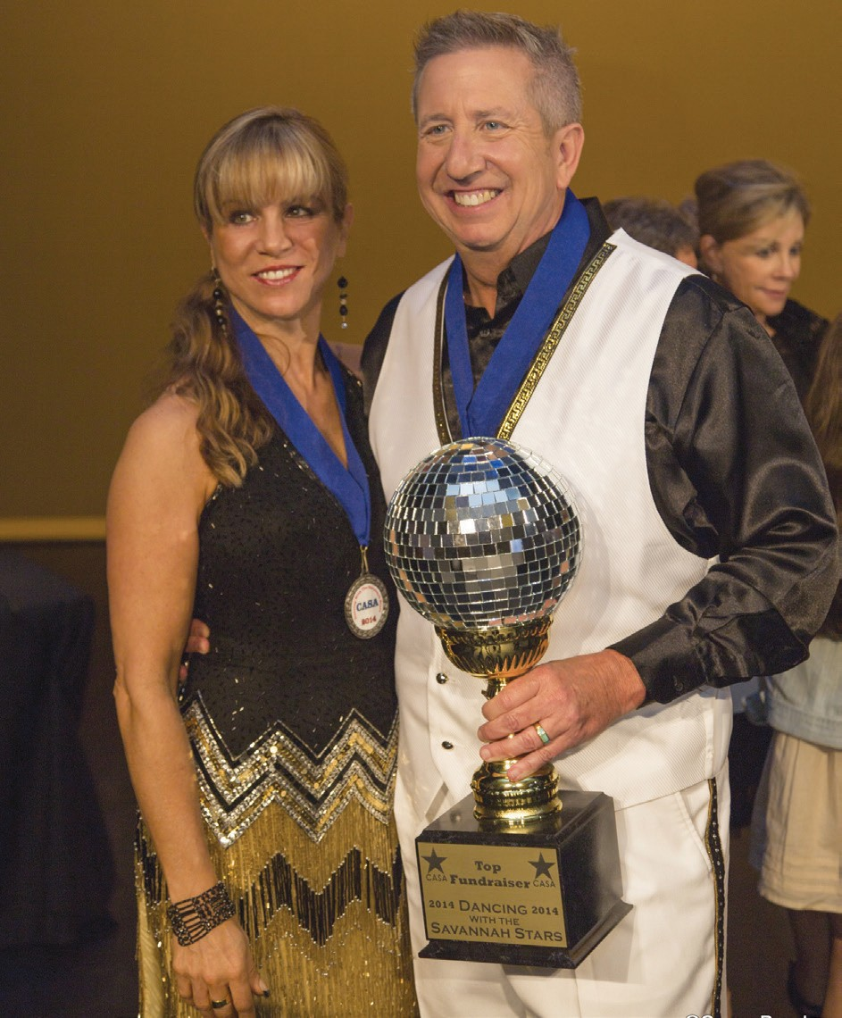 Professional dancer CC Powell of Synergistic Bodies and her partner Jerry Rooney (Top Fundraiser)