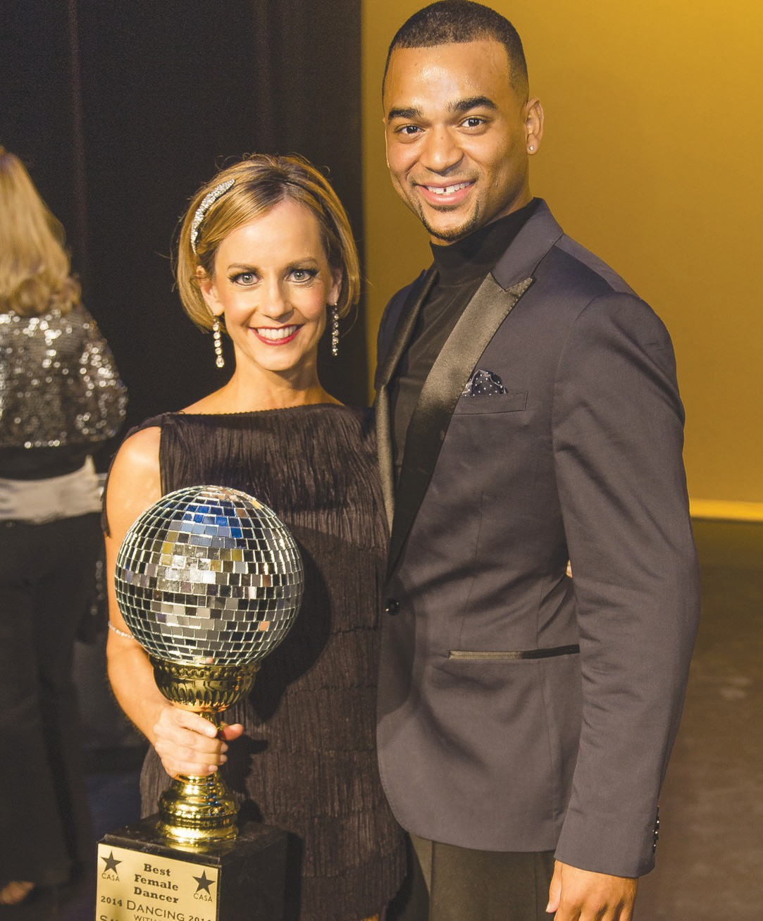 Shari Carney (Best Female, tie) and her partner professional dancer Joza Marion