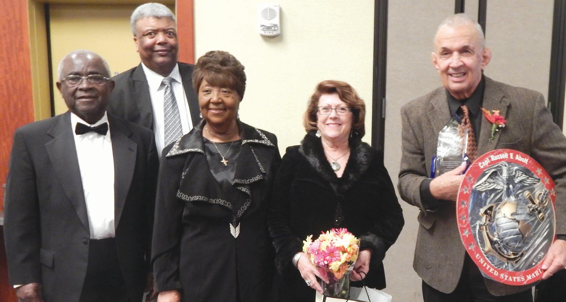 (L-R) Nathaniel Thomas, Col. George Bowen, Dr. Priscilla Thomas, Diane Abolt, and Russ Abolt