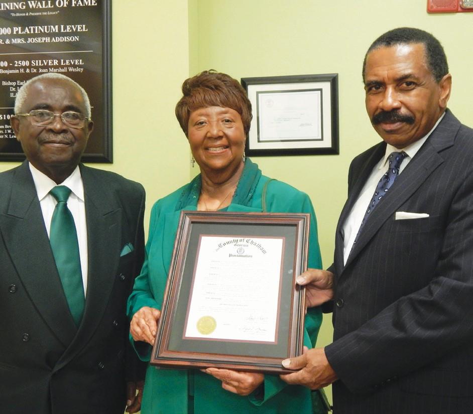 Nathaniel Thomas, Dr. Priscilla Thomas, and Al Scott.