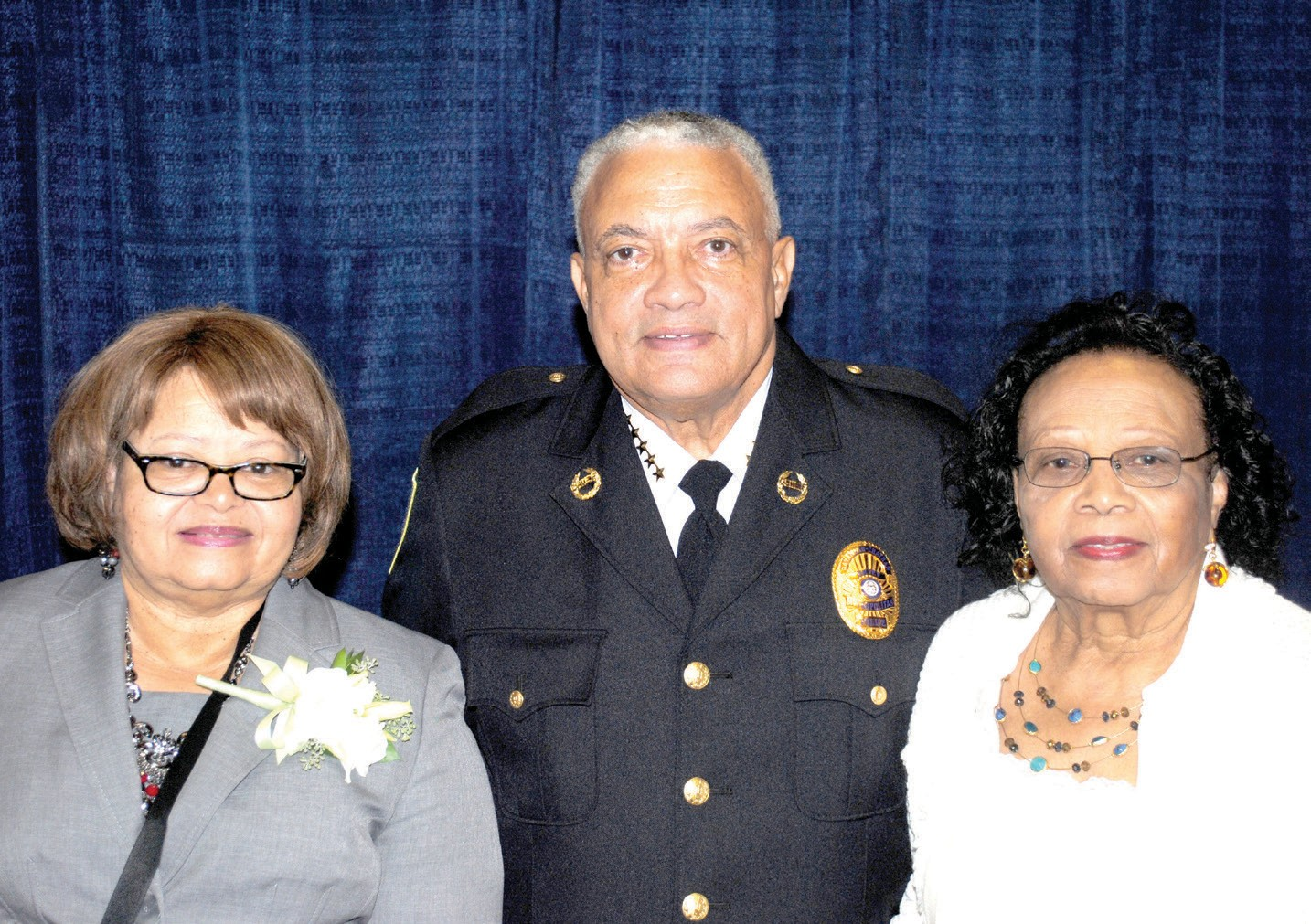 (L-R) Sandra Lumpkin, Chief Joseph Lumpkin, and Mamie Colquitt