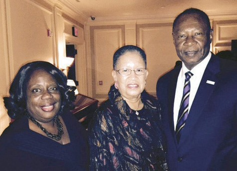 Robert and Shirley James with HistoryMakers Interviewer, Denise Gines (L), who interviewed each of them.