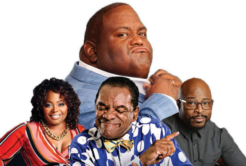(Top) Lavell Crawford (L-R) Cocoa Brown, John Withershoopon and Rudy Rush