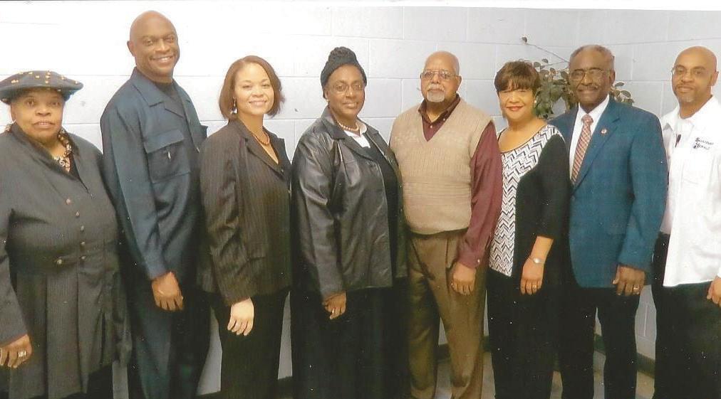 Diana Harvey Johnson, Rev. Thurmond N. Tillman, Alicia E. Scott, Alderwoman Dr. Estella Shabazz, John White, Jr., President, HCFS, Patricia A. Mathis, Roy L. Jackson and Kenneth Adams.