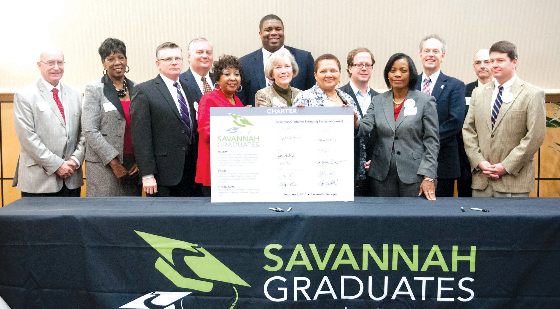 The Savannah Graduates Executive Council made a commitment to take a leadership role to increase the number of individuals in Savannah-Chatham County with post-high school credentials.