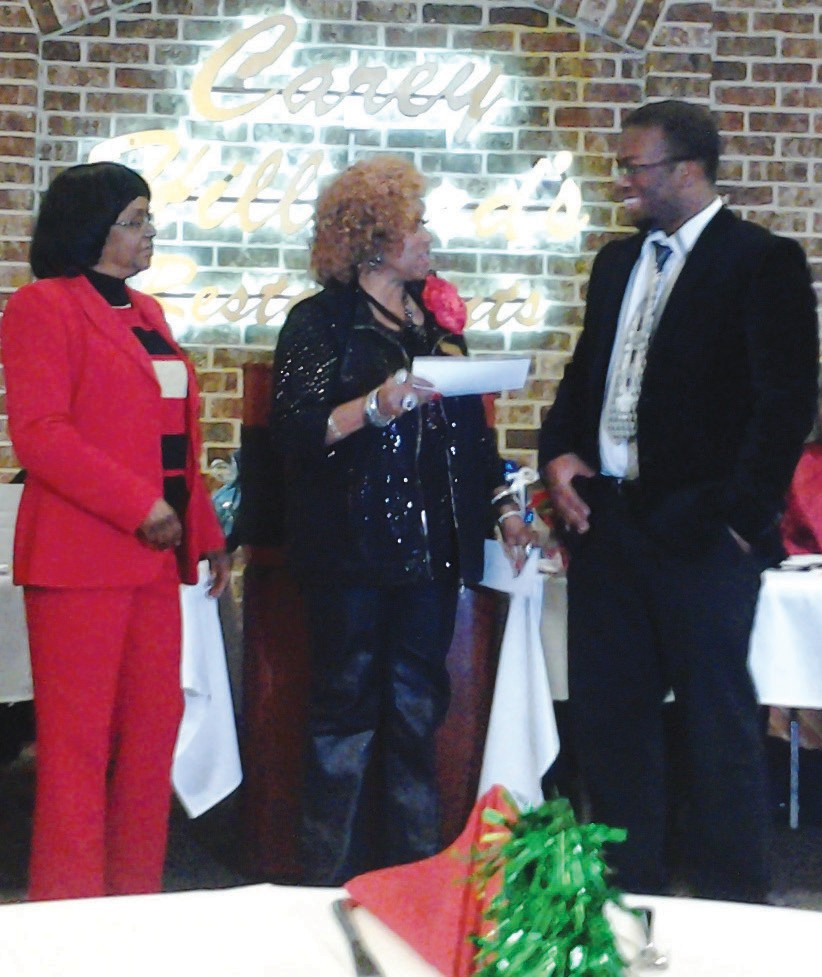 (L-R) Christian Upkins, Audrey Singleton, Henrietta Gray and Isaac Wright