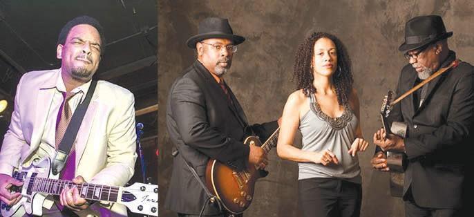 Heritage Blues Orchestra (L) and Jarekus Singleton (Far Right)