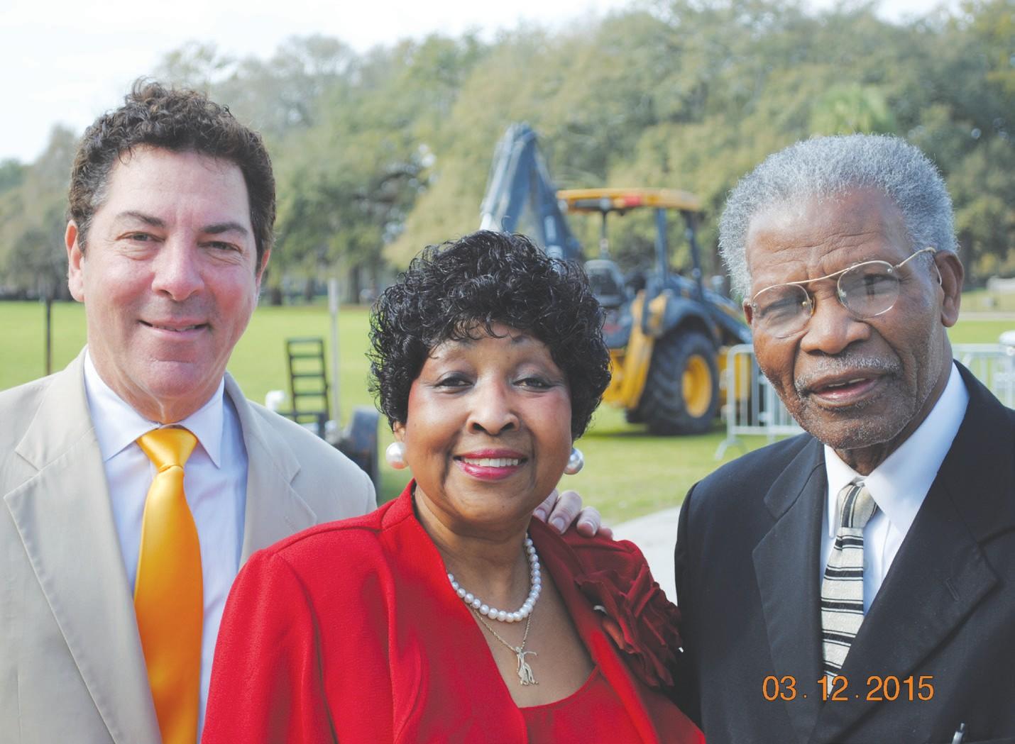 (L to R) Scott Center, Mayor Edna Jackson and Rev. Mathew Southall Brown, Sr.