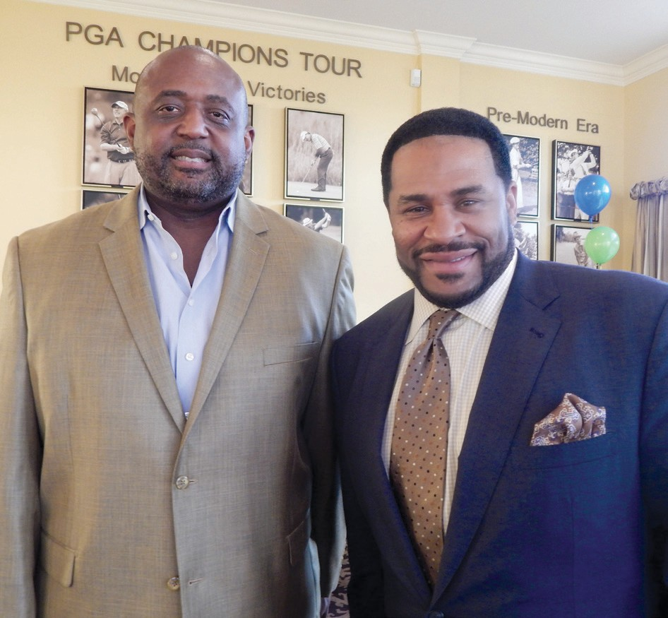 Nicholas Patrick and Jerome Bettis