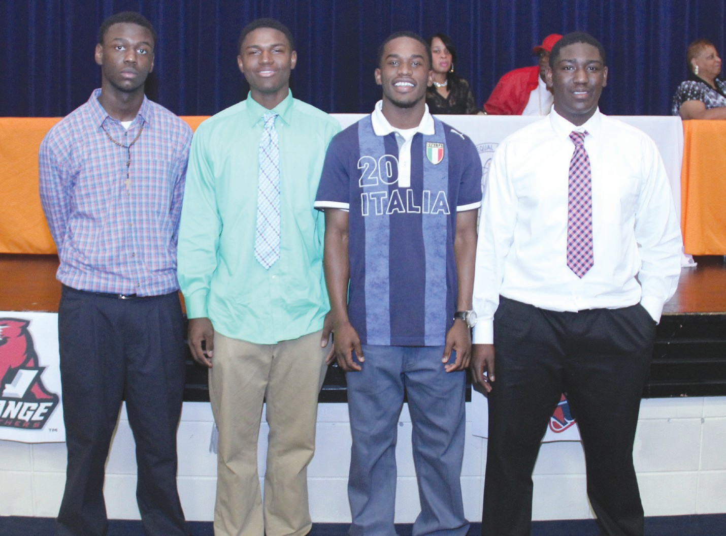 Johnson High School Football players Raquan Green, DeVante Brown,Jailyn Baker signed with Palmetto Prep and JaShaun Carter signed with LaGrange College.