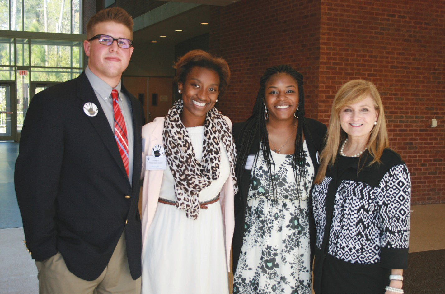 GSU PRSSA Board Members with Marjorie Young