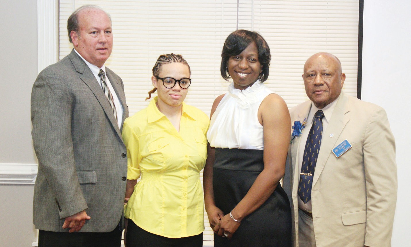 Dewey DeLettre, Jacqueline Anderson, Olufemi Gordon and Lawrence Hutchins, Jr.