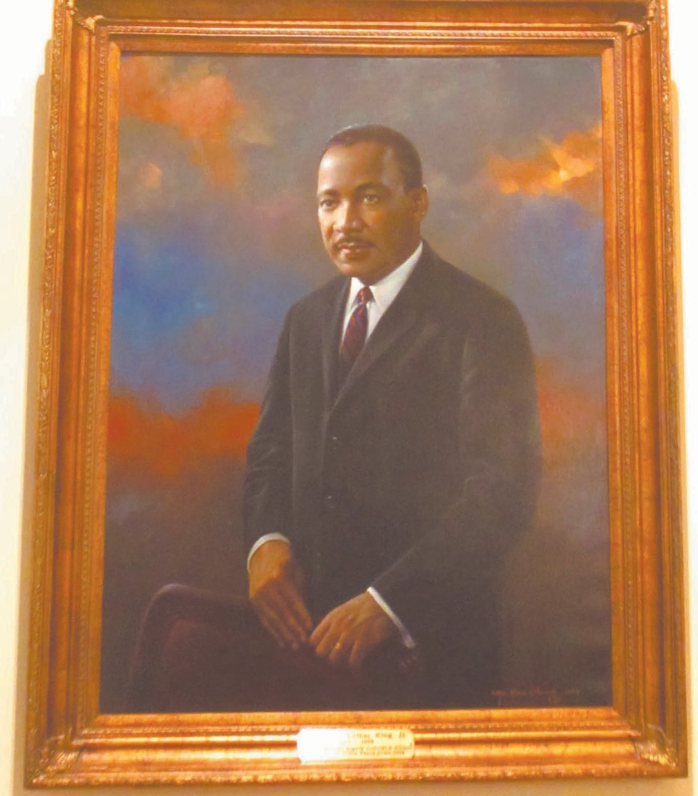 Dr. King's portrait inside the capitol building.
