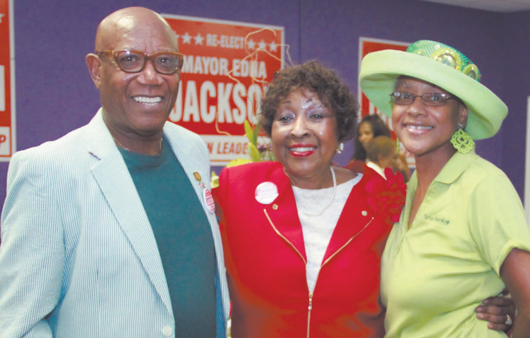 State Represenative Mickey Stephens, Mayor Edna Jackson, State Senator Regina Thomas