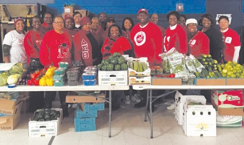 Delta Sigma Theta Sorority service day at Frank Callen Boys & Girls Club