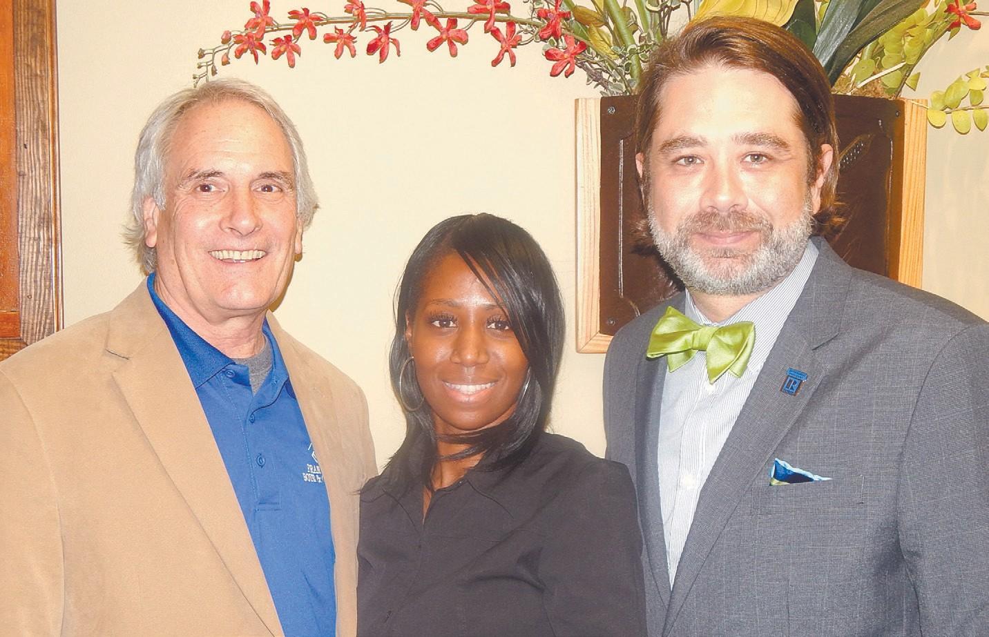 Vince Delmonte, Karen Hamilton and Trey Nivers