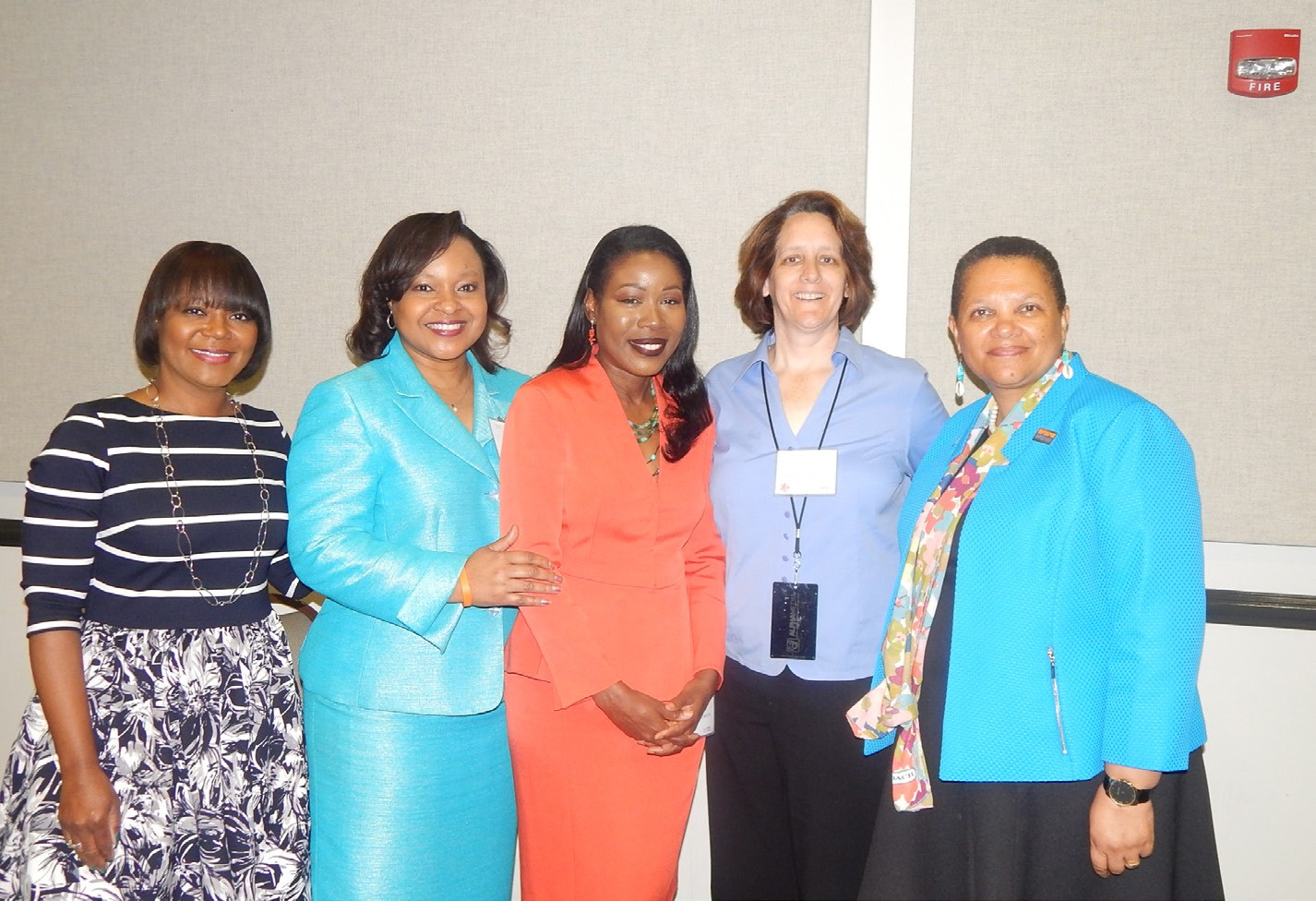 L-R Kim Gusby, Dawn Baker, Isabel Wilkerson, Claire Beverly and Dr. Cheryl Dozier