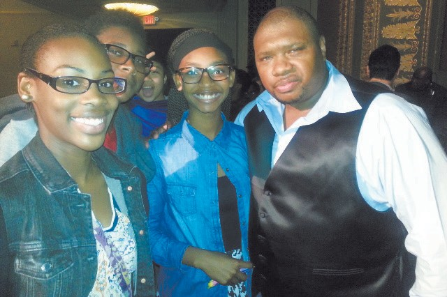 Garrison band members pictured with trombonist Wycliffe Gordon