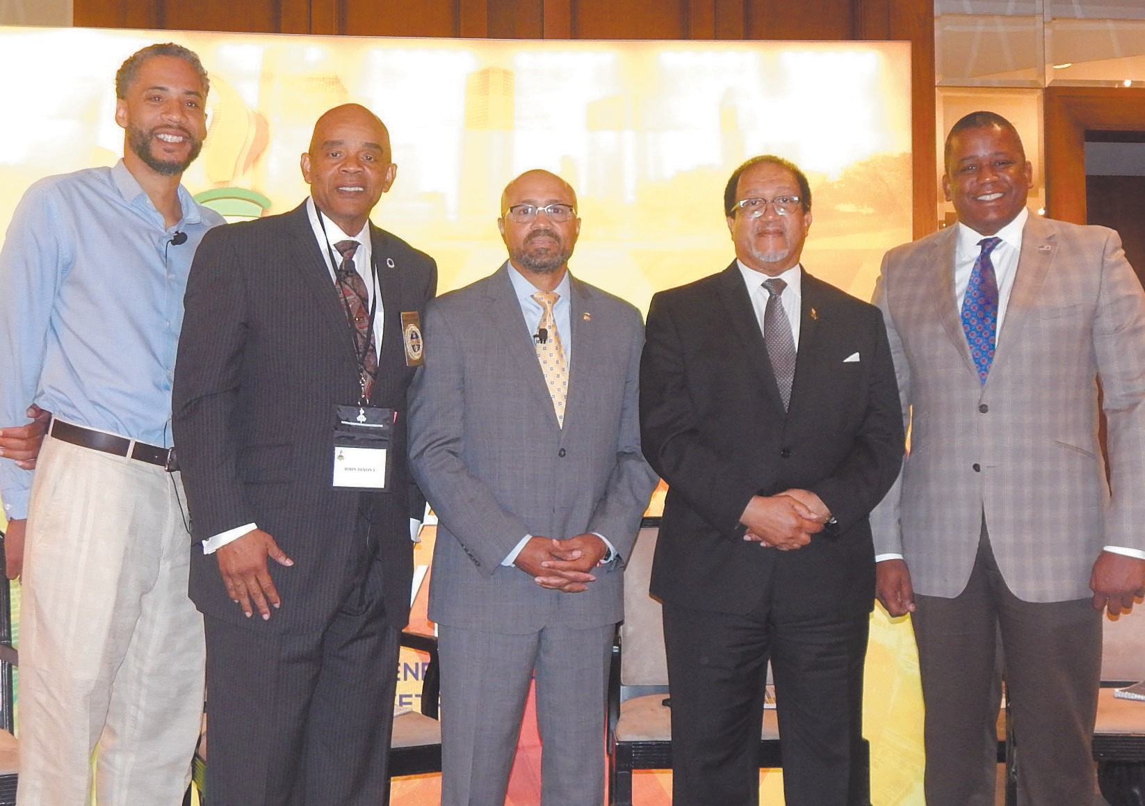 l-r: Art Way, Esq., John I. Dixon, III, Major Neill Franklin, Dr. Ben Chavis and Former Congressman Kendrick Meek