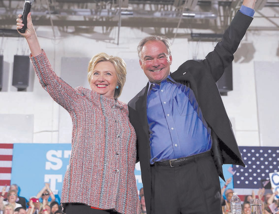 Presidential Candidate Hillary Clinton, Vice Presidential Candidate Tim Kaine