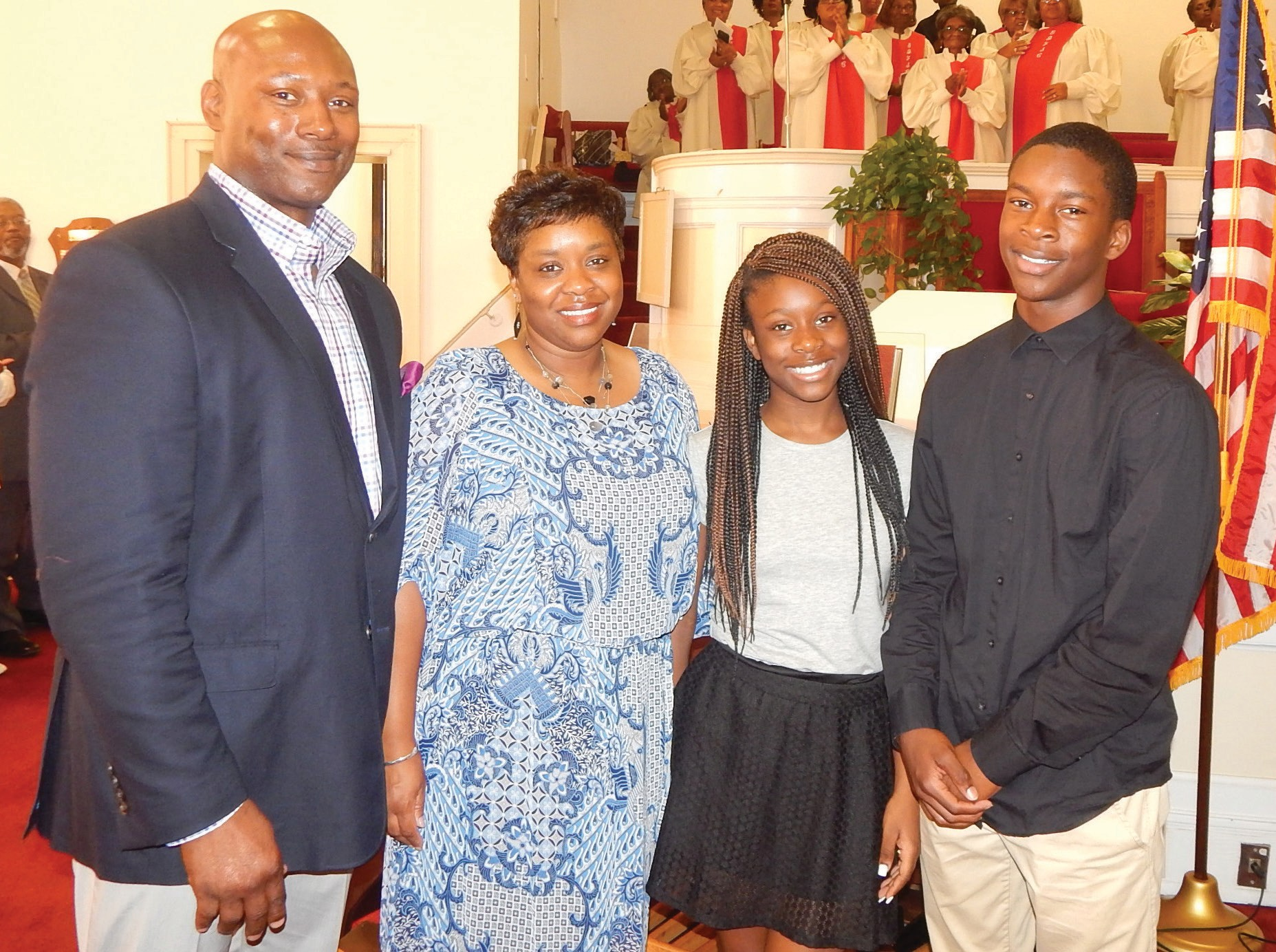 Nathaniel A. Moon, III (far right) pictured with his family