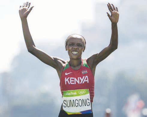 Jemima Jelagat Sumgong, Olympic gold winner for women's marathon