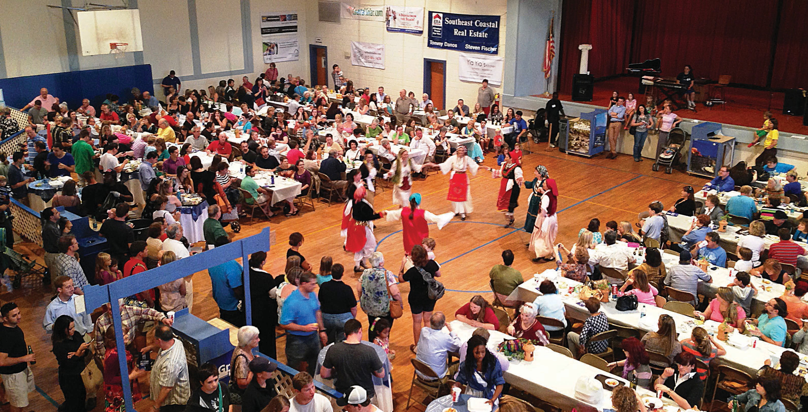 Participants at the Greek Festival