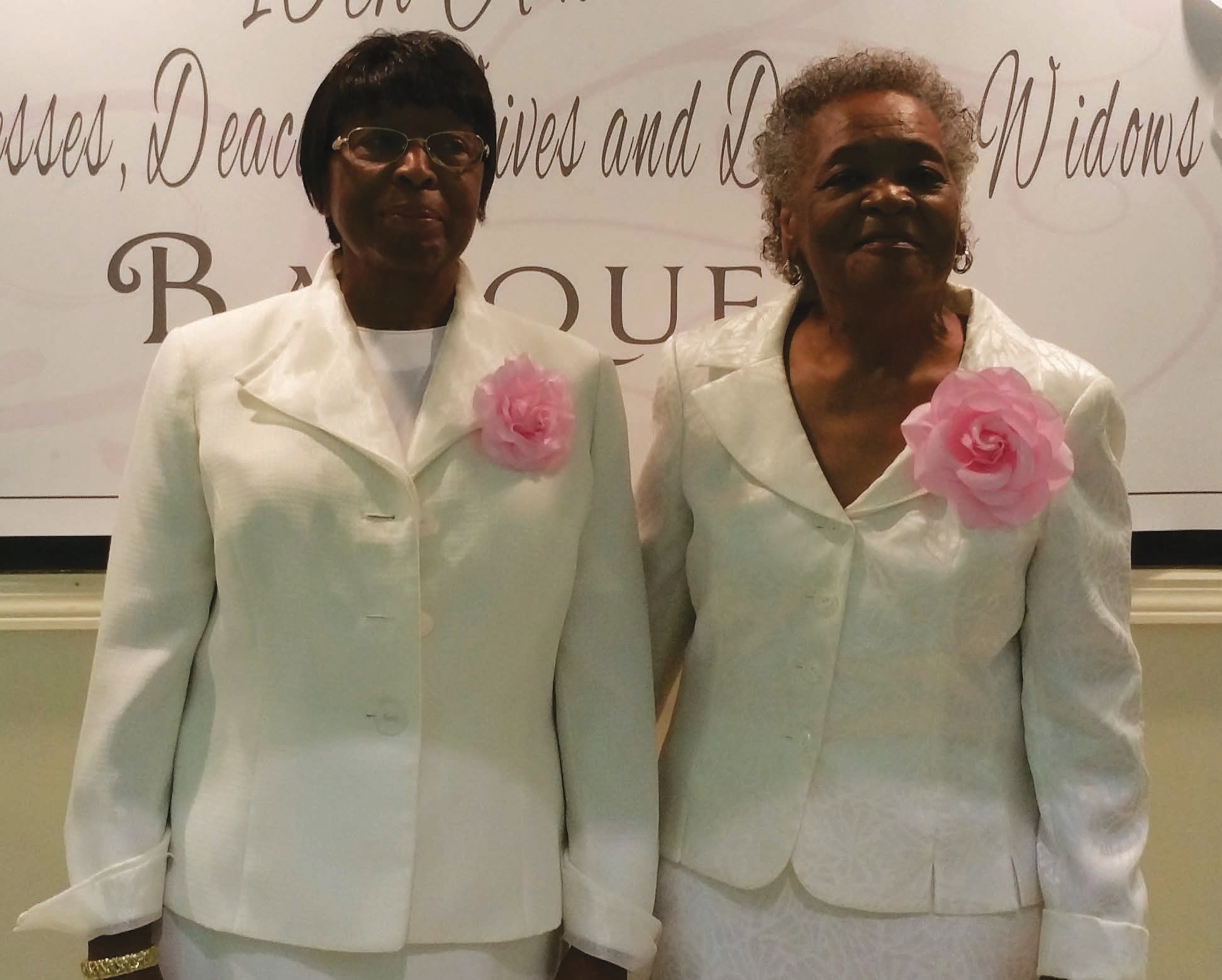 Deaconess Rosetta Prescott (left); Deaconess Louise Bryant (right)