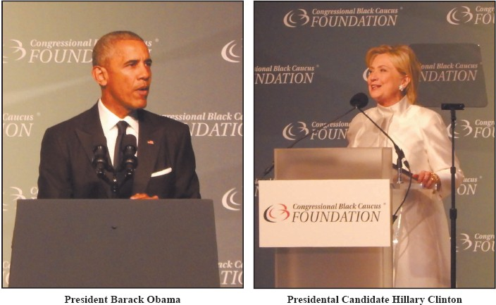 President Barack Obama and Presidental Candidate Hillary Clinton