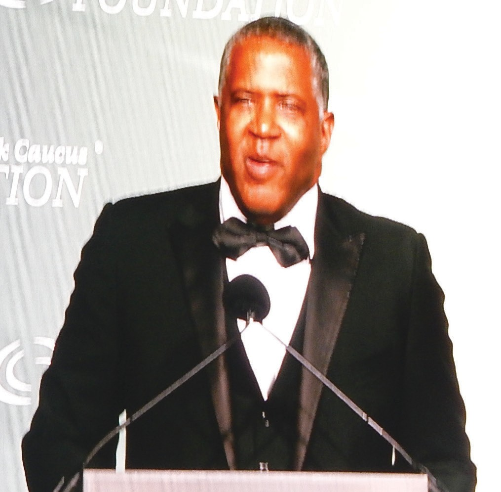 Robert F. Smith, Founder and CEO, Vista Equity Partners accepts the CBCF Chairman's Phoenix Award
