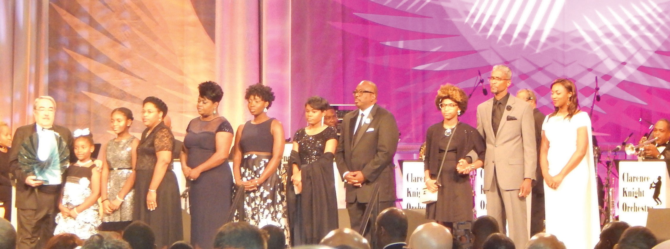 Family members of the Emanuel Nine accept the CBCF Chairman's Phoenix Award