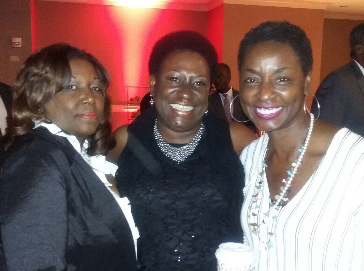 Attorney Barbara Hudson of Houston, TX, Tanya Milton, Savannah Tribune, and Rynthia Manning Rost of Washington, D.C.