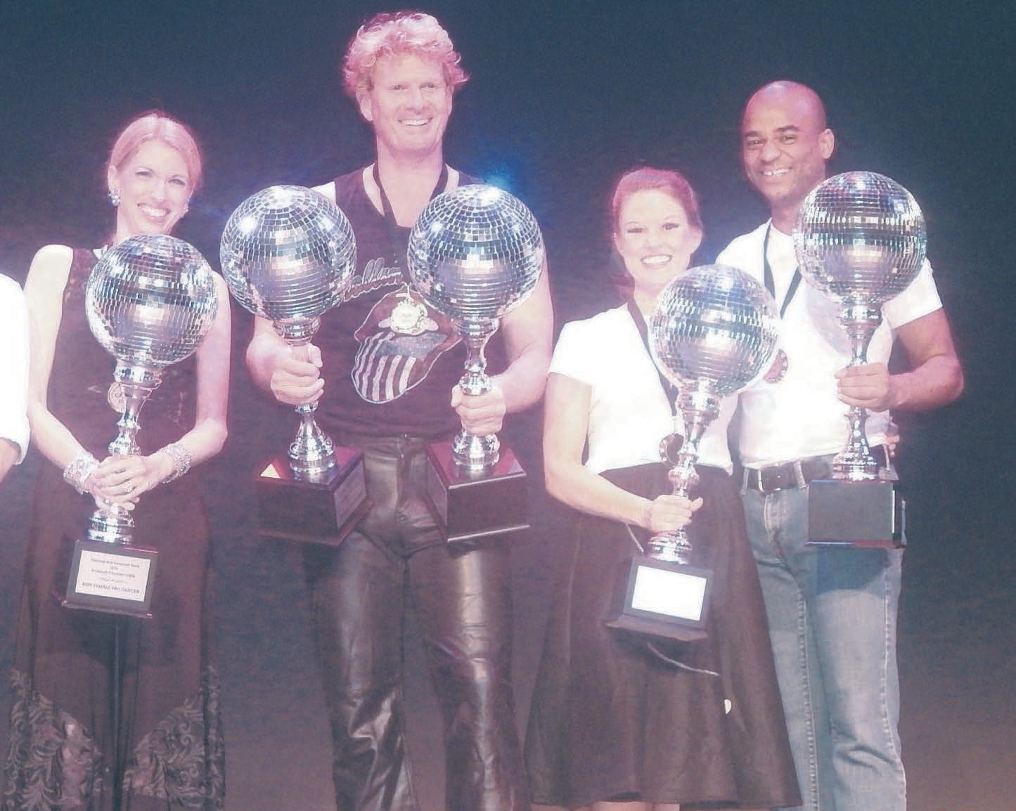 L-R Jaelynn Fulks, Best Pro Female; Corde Wilson, Best Male; Karen Daiss, Best Female and Jos'h Marion, Best Pro Male