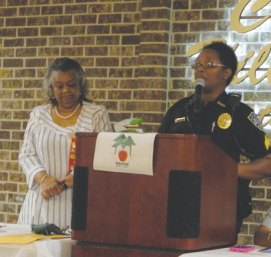 Dr. Connie Cooper with Sgt. Samantha Stephens