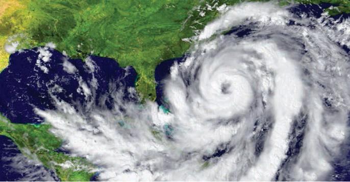 Hurricane Matthew Along The East Coastal Line