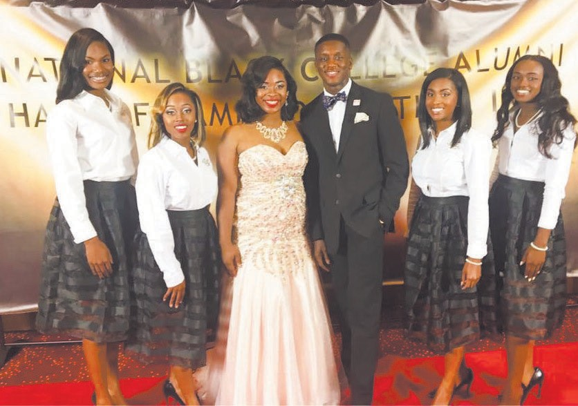 Left to right: Ashlyn Sadberry (Miss Senior), Uniquè Chapman (Miss Junior), Jahylin McKee (Miss SSU), Rakeeb Akande (Mr. SSU), Aliyah Davis (Miss Sophomore), and Mariah Truitt (Miss Freshman).