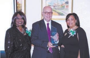 L-R Beverly M. Hall, Chapter President, Dr. Thomas B. Lockamy, Jr., SCCPSS Superintendent and Denise M. Cooper, Esq., Southern Area Program Chair, and Chaplain of the Chapter.