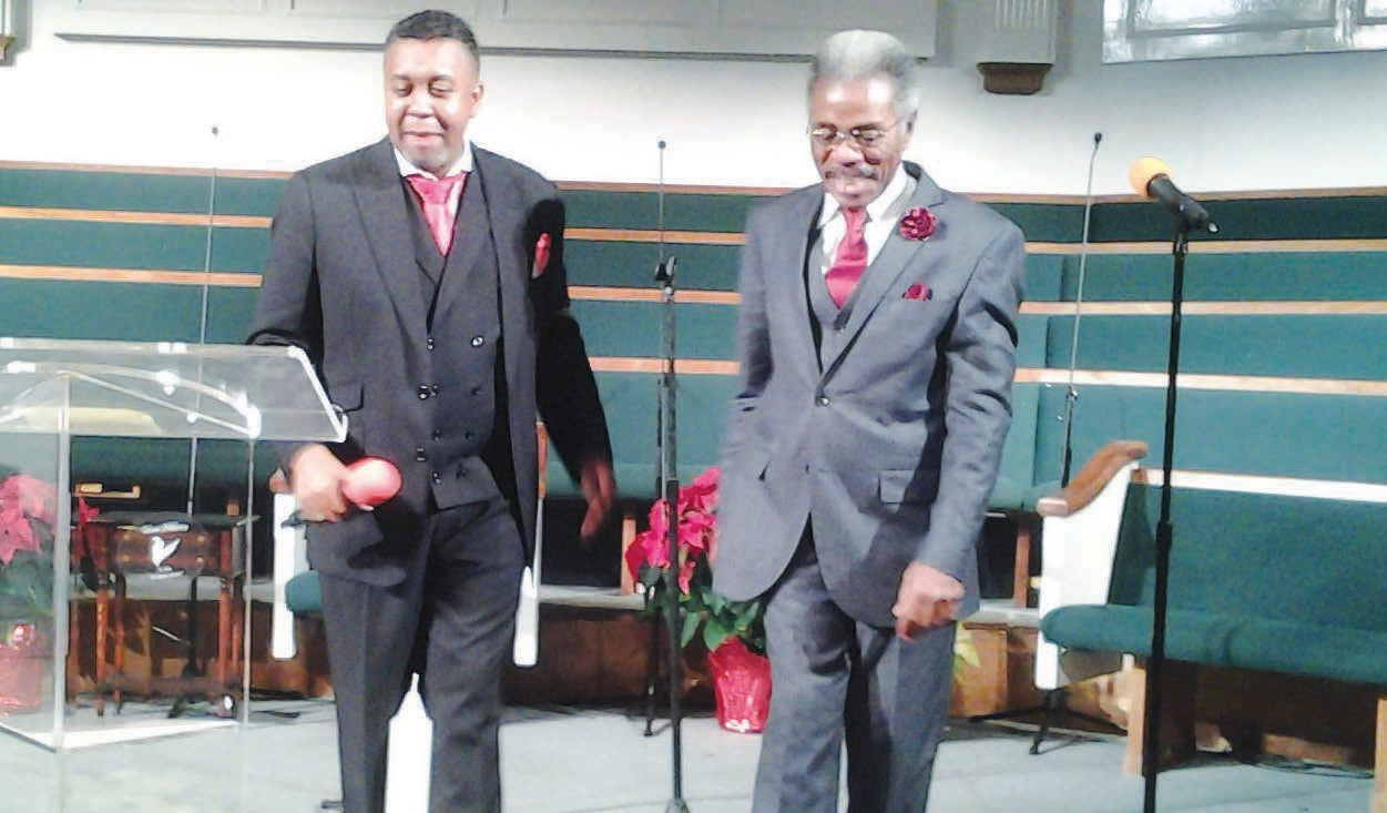 Pastor George P. Lee III and E. Larry McDuffie