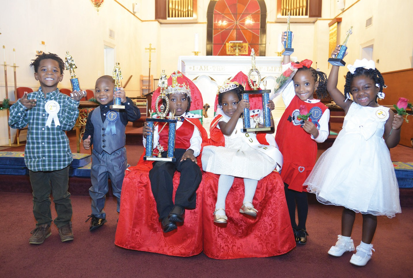 From left to right: Jayden Jest, Kevin Williams, Alex Williams, Layla Simmons Alora Rasheed, Andrea Robinson.