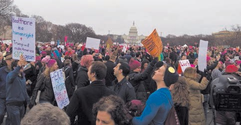 Women's March on Washington at the U.S. Captiol